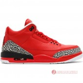 "ナイキ メンズ オールレッド エア ジョーダン 3 レッドDJ KHALED x NIKE MENS AIR JORDAN 3 ""Grateful"" university red/black-cement AJ3-770438"